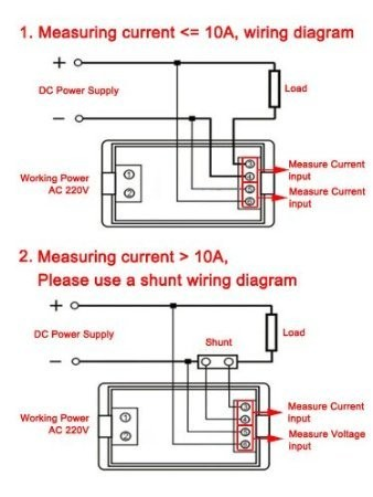 RioRand 0-199.9V/0-20.0A DC VA Voltmeter Ammeter Volt Ampere ... on