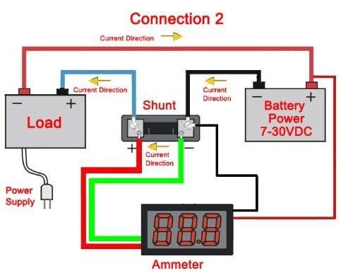 riorand dc 0 20a car ammeter panel amp red led digital current rh riorand com