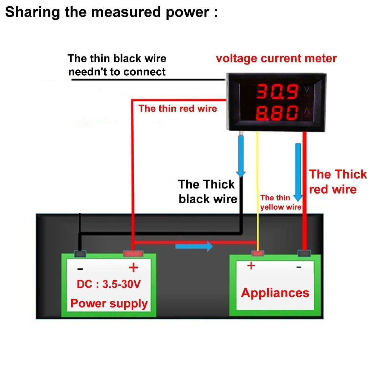 Volt Amp Meter Wiring Diagram 29 Images Dc 330v 1a Voltage Current Measurement Led Display Red Blue 7 Riorand Panel Gauge 2in1 0 33 0v