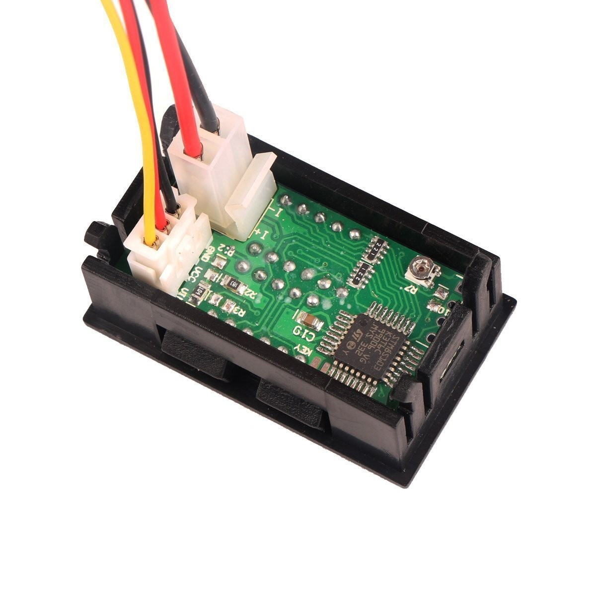 Riorand Dc Panel Voltmeter Amp Volt Power Meter 2in1 0 330v 1a Basic Motorcycle Wiring Diagram Lightbox Moreview