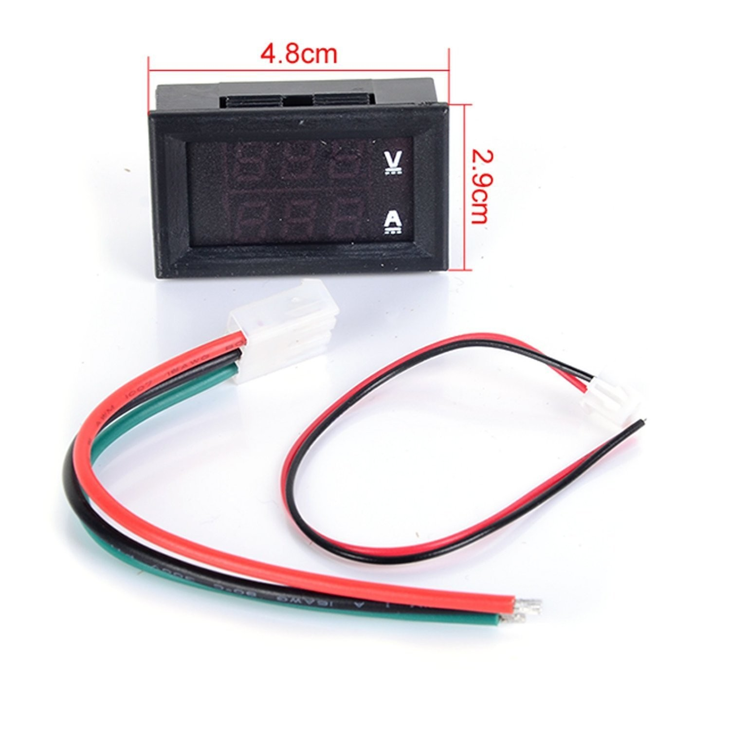 Riorand Dc Volt Amp Meter 2in1 Digital Amperemeter Voltmeter Led Wiring In Car Lightbox Moreview
