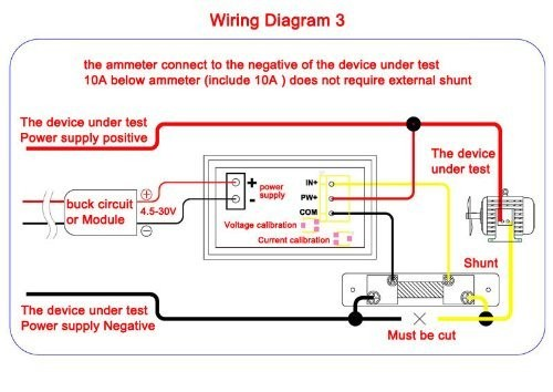 digital amp meter wiring diagram digital image riorand dc volt ampere meter 2 in 1 digital 0 100v 5a car amp on digital auto amp meter wiring diagram