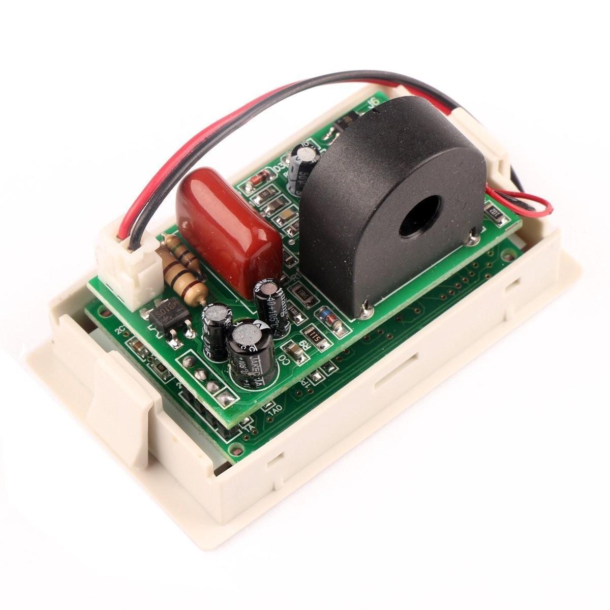 Riorand Digital Volt Ampere Amp Voltmeter Ammeter 200 500v 50a Lcd Meter Wiring Lightbox Moreview