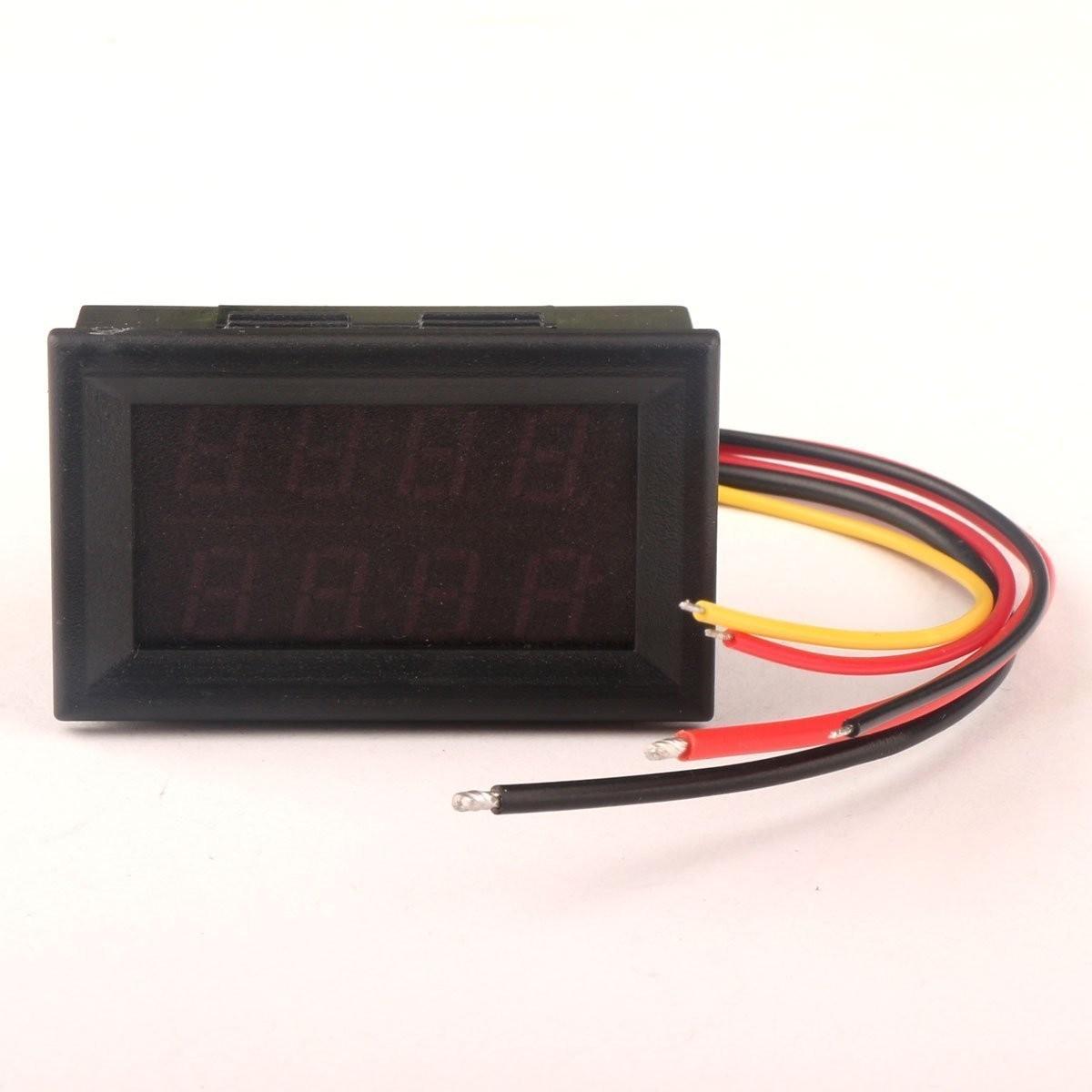 Riorand Digital Voltmeter Ammeter Gauge Dc 0 33v 3a 12v Voltage Top Popular Multimeter Circuit Tester With Lightbox Moreview