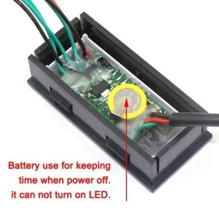 RioRand Green LED Digital Gauges Automotive Monitor 12 V Car
