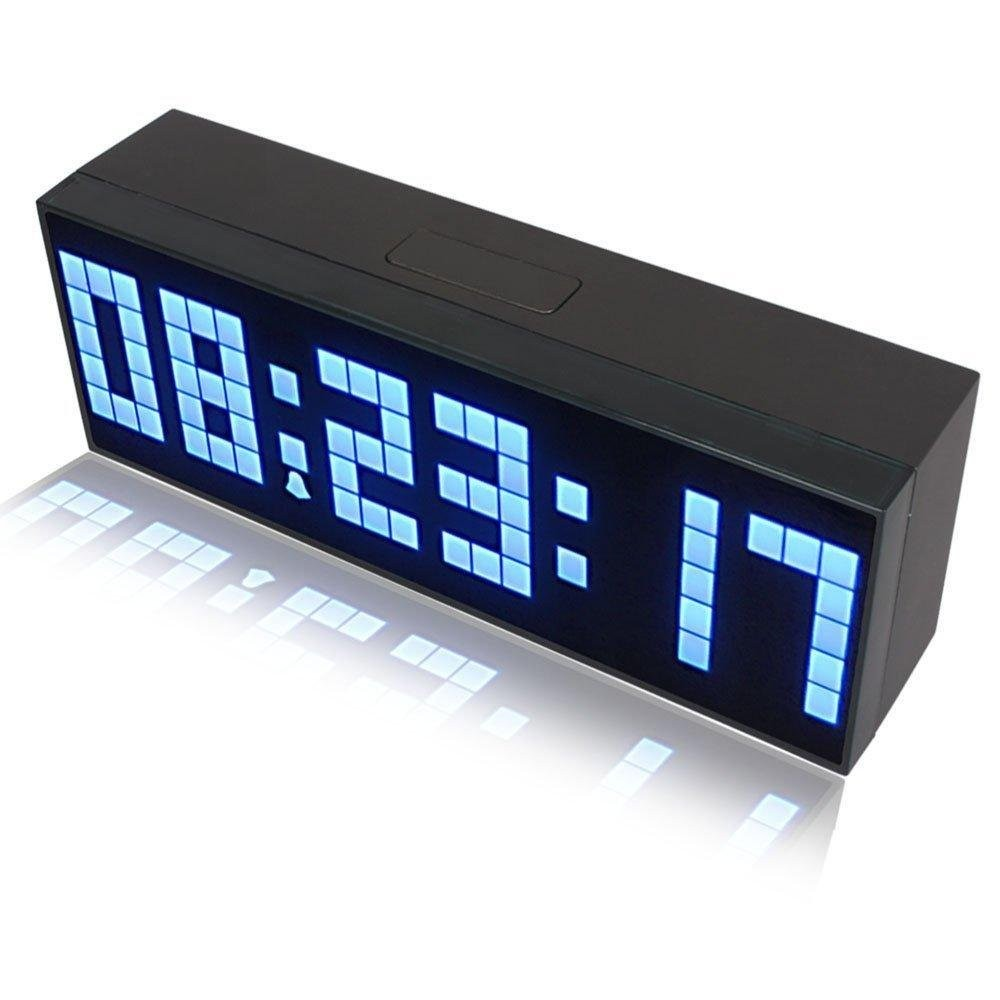 Riorand large big number jumbo led snooze wall desk alarm clock lightbox moreview amipublicfo Gallery
